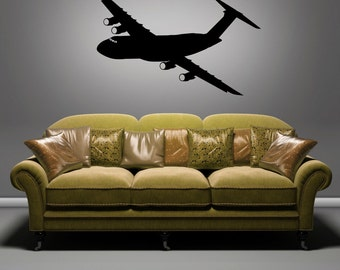 C-5 Galaxy Angle - Removable Wall Art Vinyl Decal / Sticker