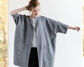 Washed oversized long kimono/cardigan/jacket SINTRA available in 34 colors