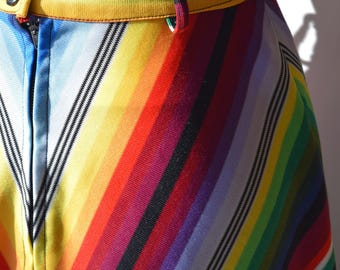 Rainbow 1970s Maxi Skirt