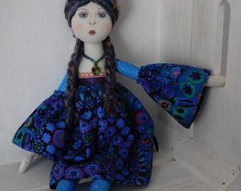 Rag doll, art dolls, fabric dolls, art doll, doll, cloth dolls, rag dolls, fabric doll, cloth doll, hippy doll, heirloom doll, decorative