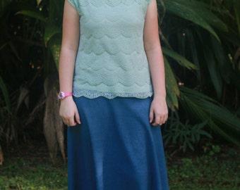 Half Circle Denim Skirt | Custom Size