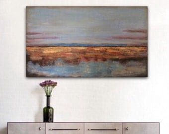 Landscape Painting Large Abstract Painting Large Painting Large Wall Art Horizental Living Room Painting Large Abstract Painting Modern Art