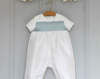 Boys Baptism Outfit - Christening Outfit - Baby Boy Christening - Boys Blessing Outfit - Boy Baptism Suit - Baby boy Romper - Echo Romper