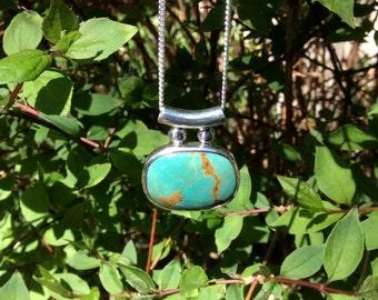 Tibetan turquoise pendant with chain