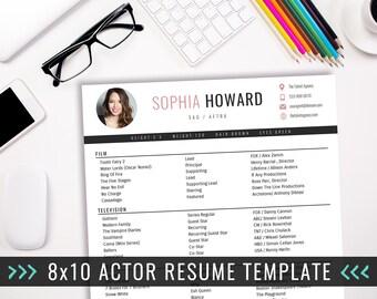 actor cv template