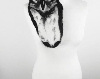 Owl Brooch Felted Brooch Bird Brooch Bird Pin felt nuno Art Deco nunofelt fairy brooch folk boho wool Fairy