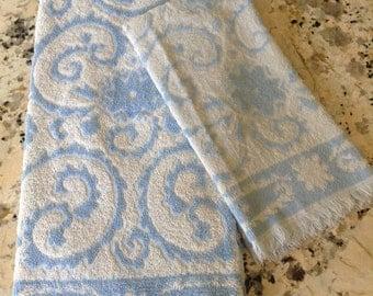 Vintage Blue & White Towel Set