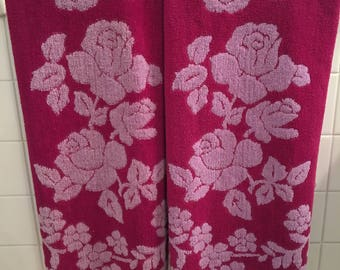Amazing Vintage Bath Towel Set-Pink&Purple