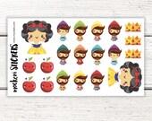 20 Snow White Stickers / Erin Condren Planner Stickers / Planner Stickers