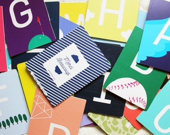 Like me - card Alphabet /Imagination / Graphic Design