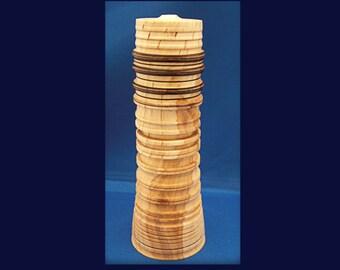 Tall Trinket Box - Figured Beech wood  - SALE ITEM