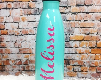 Personalized Stainless Steel Bottle - 17 oz bottles - Stainlesss Steel Vacuum Thermal Bottles - Personalized Tumblers - Bridal Party Tumbler