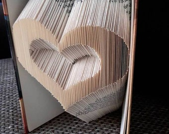Book Folding Pattern -HEART  + Free Tutorial