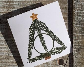 Deathly Hallows Harry Potter Christmas Card