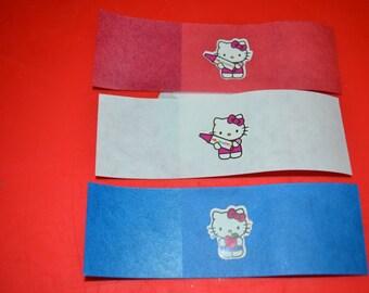 25 Self Adhesive Hello Kitty Inspired Napkin Bands/Napkin Bands/Self Adhesive Napkin Bands/Cutlery Band