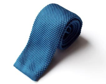 Teal Knit Neck Tie, Men's Neck Tie