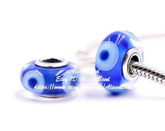 2016 Winter Collection 925 Sterling Silver Blue Murano Glass Charms Beads Fits All European Style Bracelets& Necklaces Z337