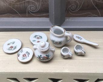 Vintage French Minature Doll's House tea set