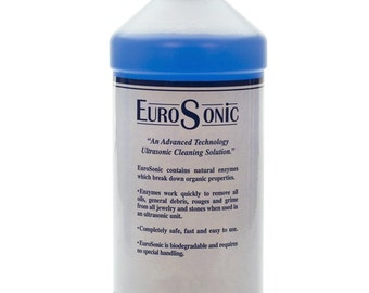 Eurosonic Cleaning Solution - 1 Quart Ultrasonic Solution Non-Toxic Jewelry Metal Cleaner - CLN-850.10