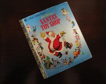 Walt Disney's Santa's Toy Shop – Vintage Children's Little Golden Book – 451-17
