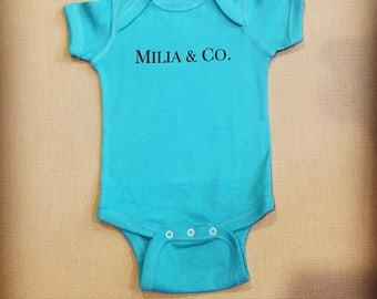 Custom Baby & Co. baby onesie