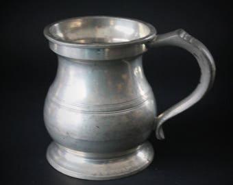 Pewter Mug by Harry Mason, Half Pint Cup, Gaskell and Chambers Birmingham British Barware