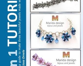 "Tutorial 3 in 1 ""Chilliflower"" (to make 2 bracelets + 1 necklace)"