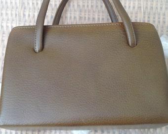 Vintage 1960's Brown  Coloured Mod Handbag