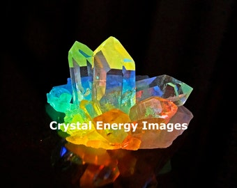 Quartz Crystal Photo, Sedona Crystal, Rainbow Art, Reiki Art, Energy Healing, Chakra Art, Spiritual Art, Holistic, Yoga Art, Meditation Art
