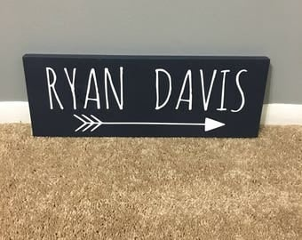 Arrow Decor/ Personalized Sign / Nursery Decor / Bedroom Sign