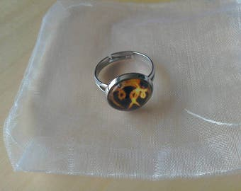 Flame heart adjustable dome ring