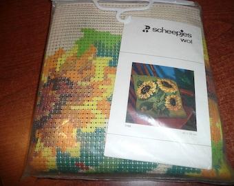 Scheepjeswol Sunflower Needlepoint Pillow Kit