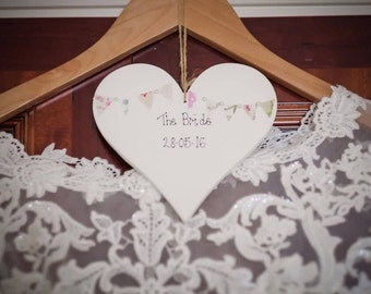 Personalised Heart Plaque/Sign for bridesmaids and flower girls