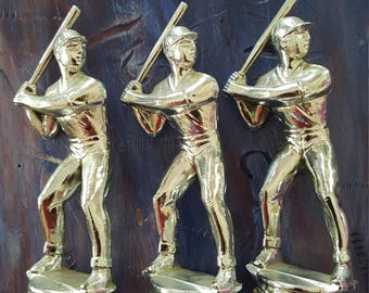 Die-Cast Baseball figurine Chrome,Trophy figure