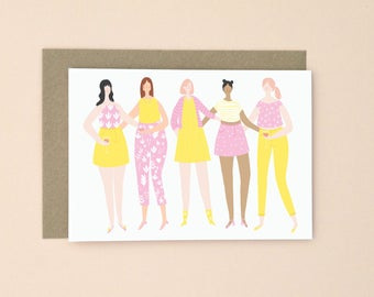 Illustrated Party Greetings Card