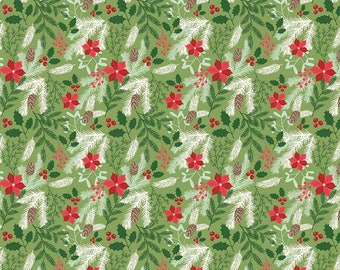 1 Yard Comfort and Joy by Design by Dani for Riley Blake Designs- 6260 Main Green