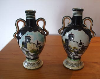Marmaca, Italy, 2 matching Liqueur bottles/urns