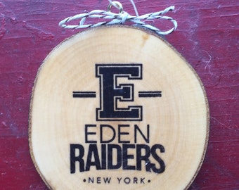 Eden Raiders Wood Slice Ornament