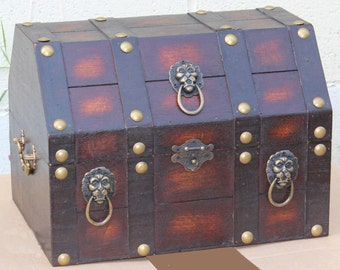 Black Pirate Style Chest