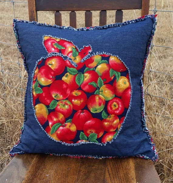 Apple Home Decor: Country Apple Pillow Country Kitchen Home Decor Rustic