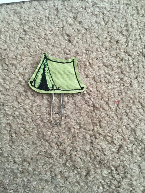 Camping Tent Clip/Planner Clip/Bookmark.