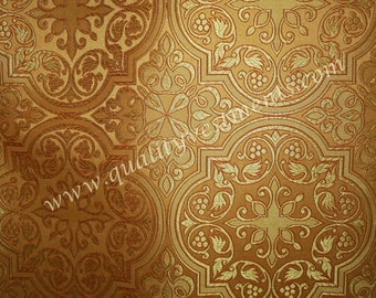 """Church Liturgical Vestment Nonmetallic Brocade Gold by meter, 150 cm/59"""" w"""