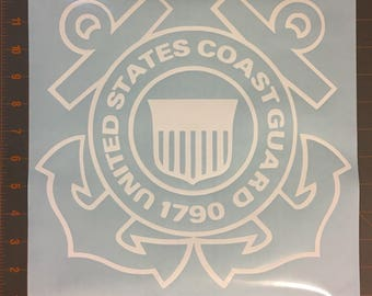 Coast Guard Die Cut Vinyl Decal