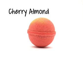 Cherry Almond Bath Bomb | Cherry Almond Goat Milk Bath Bomb