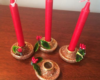 Small Holt Howard candlestick holders
