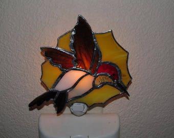 Stained Glass Hummingbird Nightlight