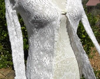 Vintage lace  cardigan, size uk 8-10, usa 6-8,