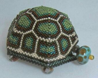 Beaded Turtle Box
