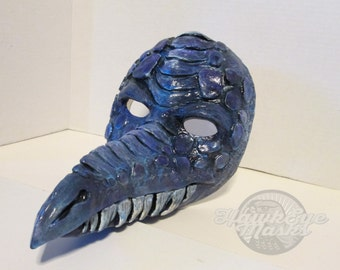 Fantasy Dragon mask, Masquerade, costume mask, handmade, hand painted, ooak, cosplay, Halloween, made to order