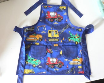 Boys Truck Apron Construction Apron Kids in the Kitchen